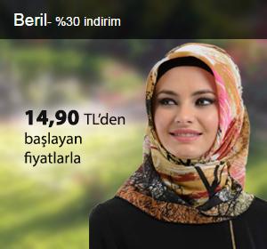 Beril Eşarplar 14,90 TL'den Başlayan Fiyatlarla!