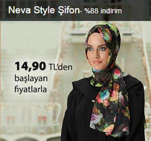 Neva Style Şifon Şallar 14,90 TL'den Başlayan Fiyatlarla!