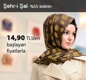 Şehr-i Şal Şallar 14,90 TL'den Başlayan Fiyatlarla!