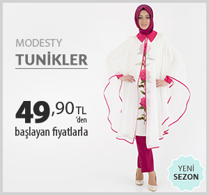 Modesty Marka Tunikler 49,90 TL'den Başlayan Fiyatlarla!